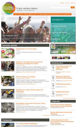 Mobile preview of globalportalen.org