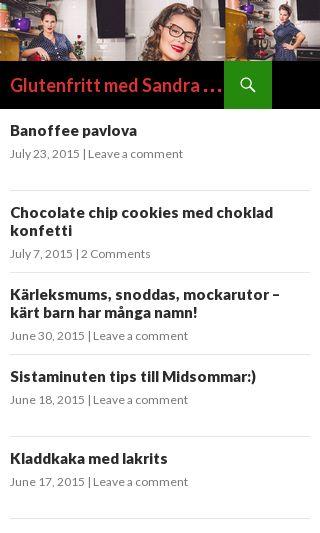 Mobile preview of glutenfrittmedsandra.se
