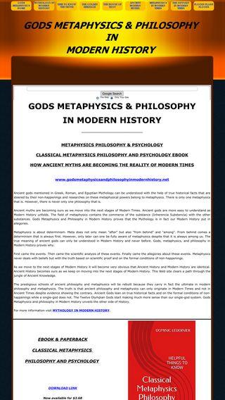 Mobile preview of godsmetaphysicsandphilosophyinmodernhistory.net