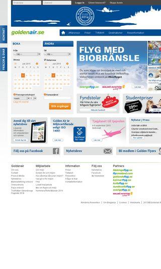Mobile preview of goldenair.se