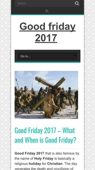 Mobile preview of goodfridays.info