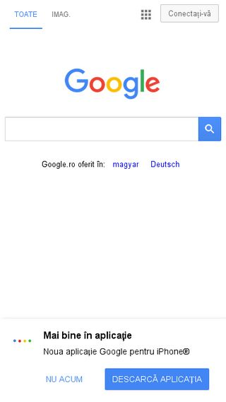 Mobile preview of google.ro