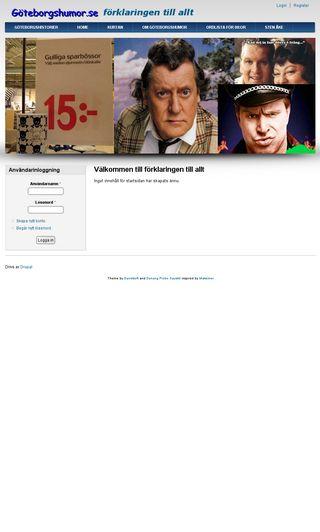 Mobile preview of goteborgshumor.se