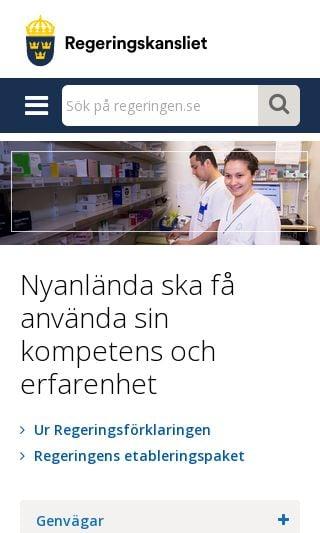 Mobile preview of gov.se