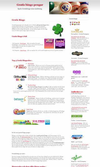 Mobile preview of gratisbingopengar.com