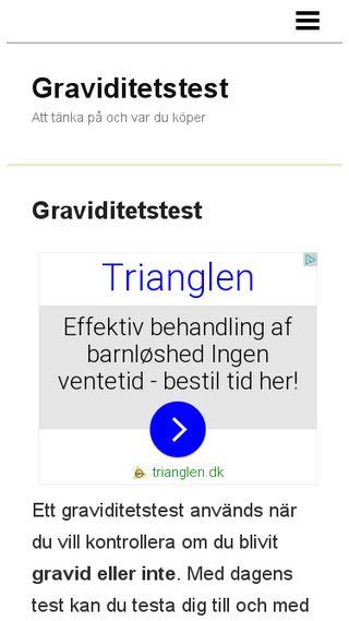 Mobile preview of graviditetstest.n.nu