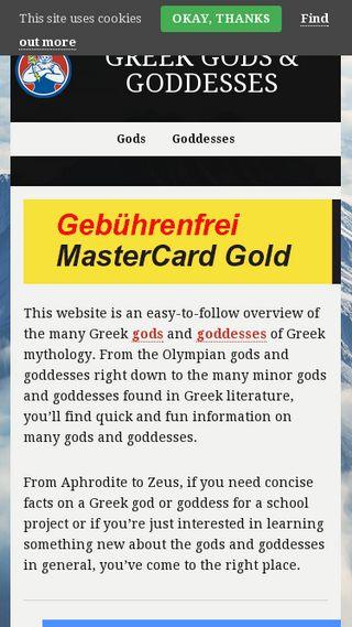 Mobile preview of greekgodsandgoddesses.net