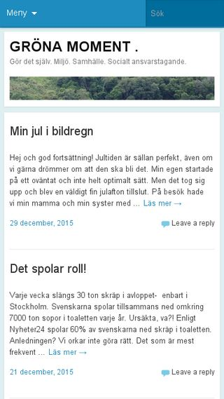 Mobile preview of gronamoment.se
