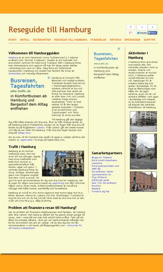 Mobile preview of hamburgguiden.se