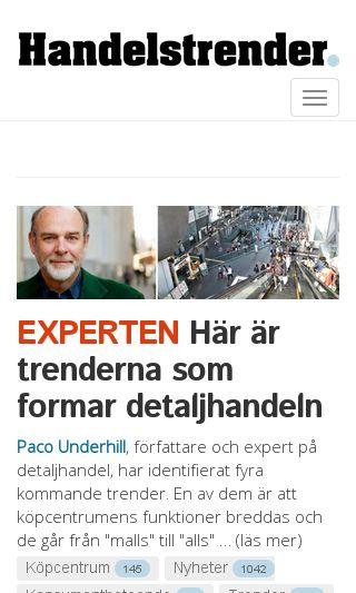 Mobile preview of handelstrender.se