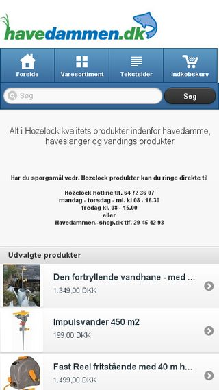 Mobile preview of havedammen-shop.dk