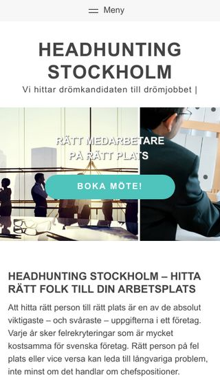 Mobile preview of headhuntingstockholm.nu