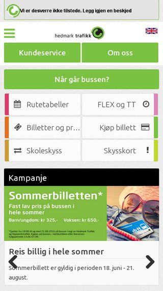 Mobile preview of hedmark-trafikk.no