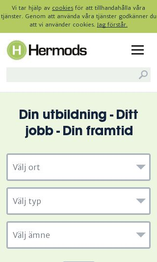 Mobile preview of hermods.se