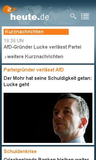 Mobile preview of heute.de