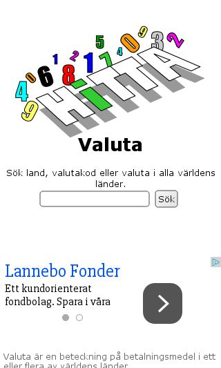 Mobile preview of hittavaluta.se