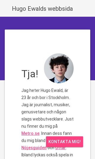 Mobile preview of hugoewald.se