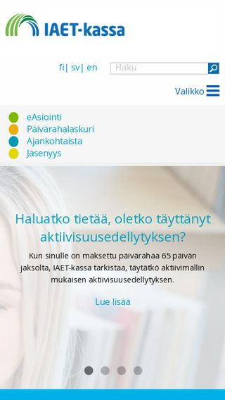 Mobile preview of iaet.fi