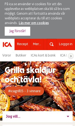 Mobile preview of ica.se
