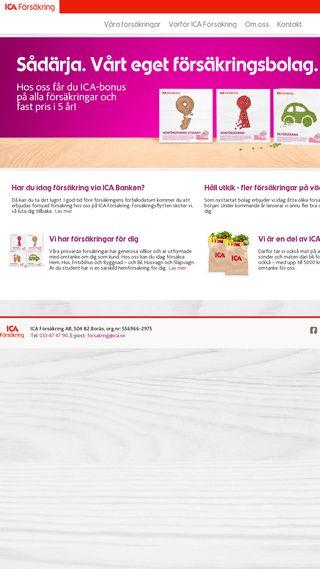 Mobile preview of icaforsakring.se