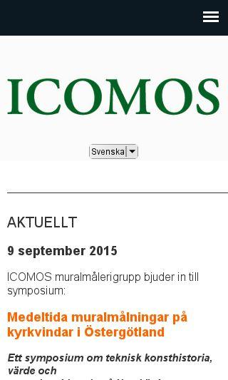 Mobile preview of icomos.se