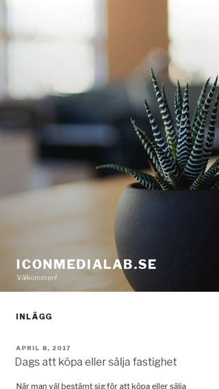 Mobile preview of iconmedialab.se