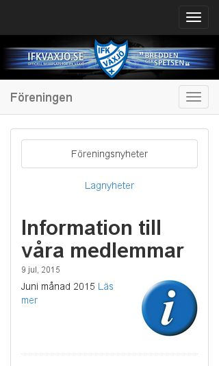 Mobile preview of ifkvaxjo.se