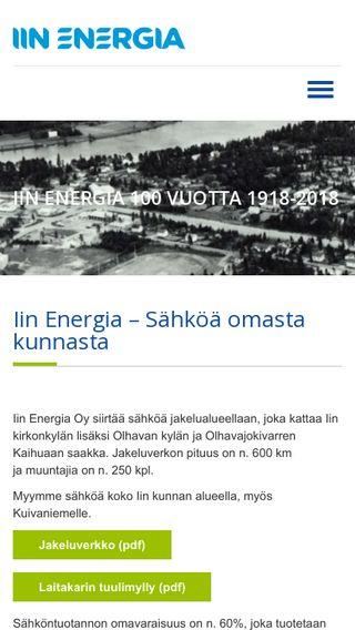 Mobile preview of iinenergia.fi