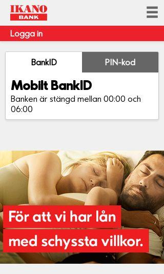 Mobile preview of ikanobank.se