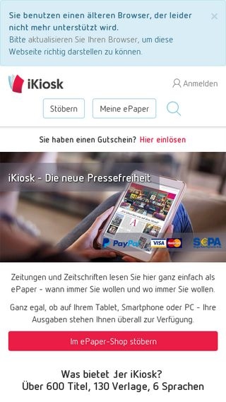 Mobile preview of ikiosk.de