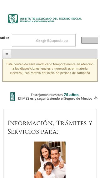 Mobile preview of imss.gob.mx