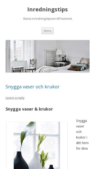 Mobile preview of inredningstips.nu