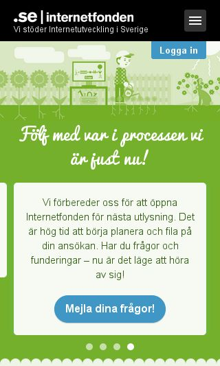 Mobile preview of internetfonden.se
