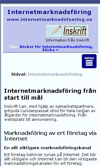 Mobile preview of internetmarknadsfoering.se