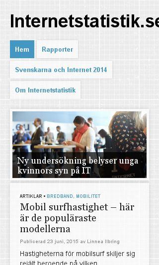 Mobile preview of internetstatistik.se