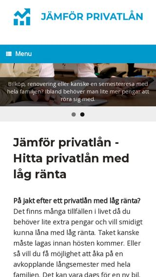 Mobile preview of jamforprivatlan.nu