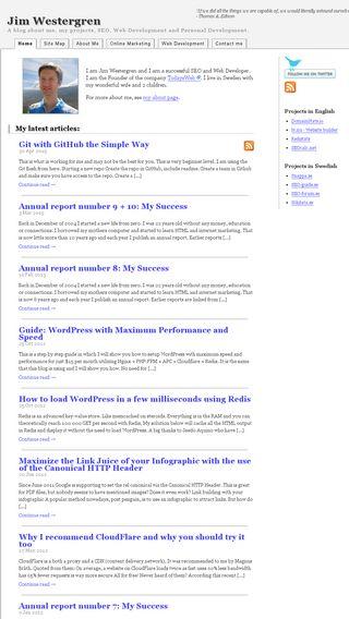 Mobile preview of jimwestergren.com