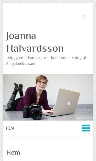 Mobile preview of joannahalvardsson.se