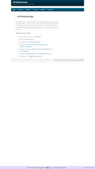 Mobile preview of jw-webbdesign.se