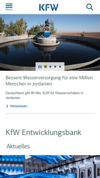 Mobile preview of kfw-entwicklungsbank.de