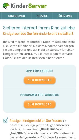 Mobile preview of kinderserver-info.de