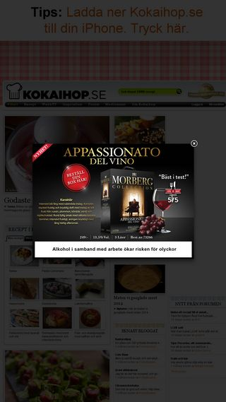 Mobile preview of kokaihop.se