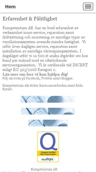 Mobile preview of kompetentumvent.se