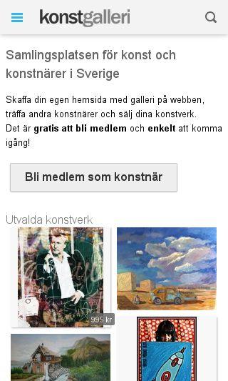 Mobile preview of konstgalleri.se