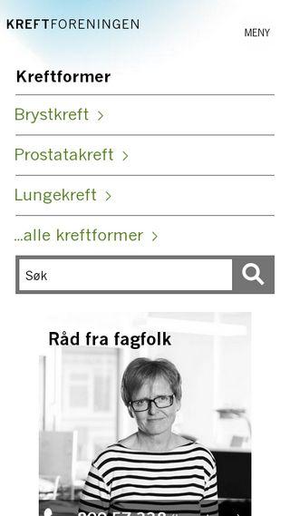 Mobile preview of kreftforeningen.no