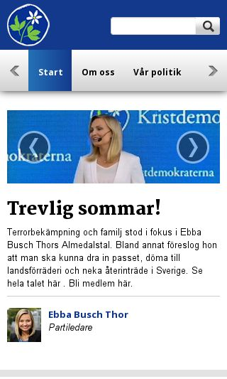 Mobile preview of kristdemokraterna.se