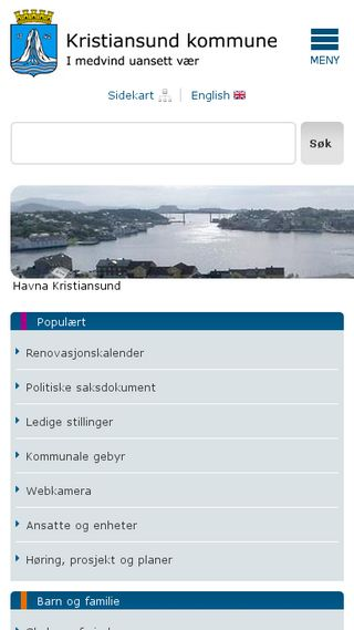 Mobile preview of kristiansund.kommune.no