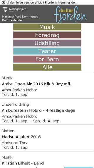 Mobile preview of kulturfjorden.dk