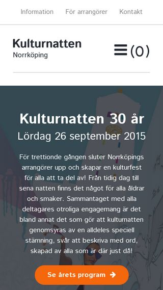 Mobile preview of kulturnattennorrkoping.se