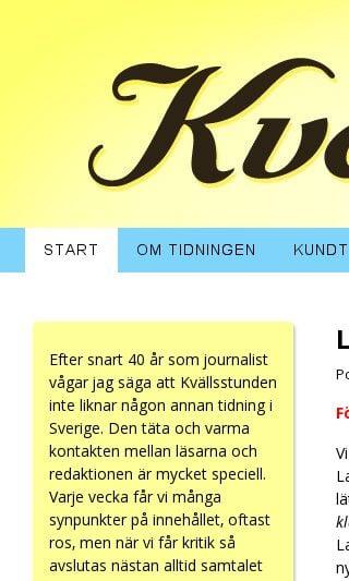 Mobile preview of kvallsstunden.se
